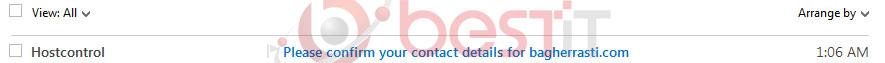 ایمیل Hostcontrol